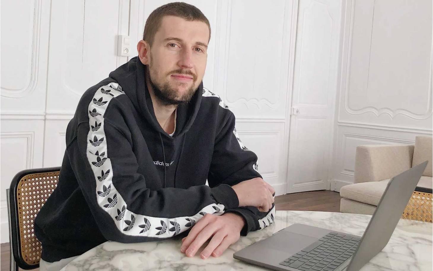 Quentin Haessig, confiné et toujours connecté