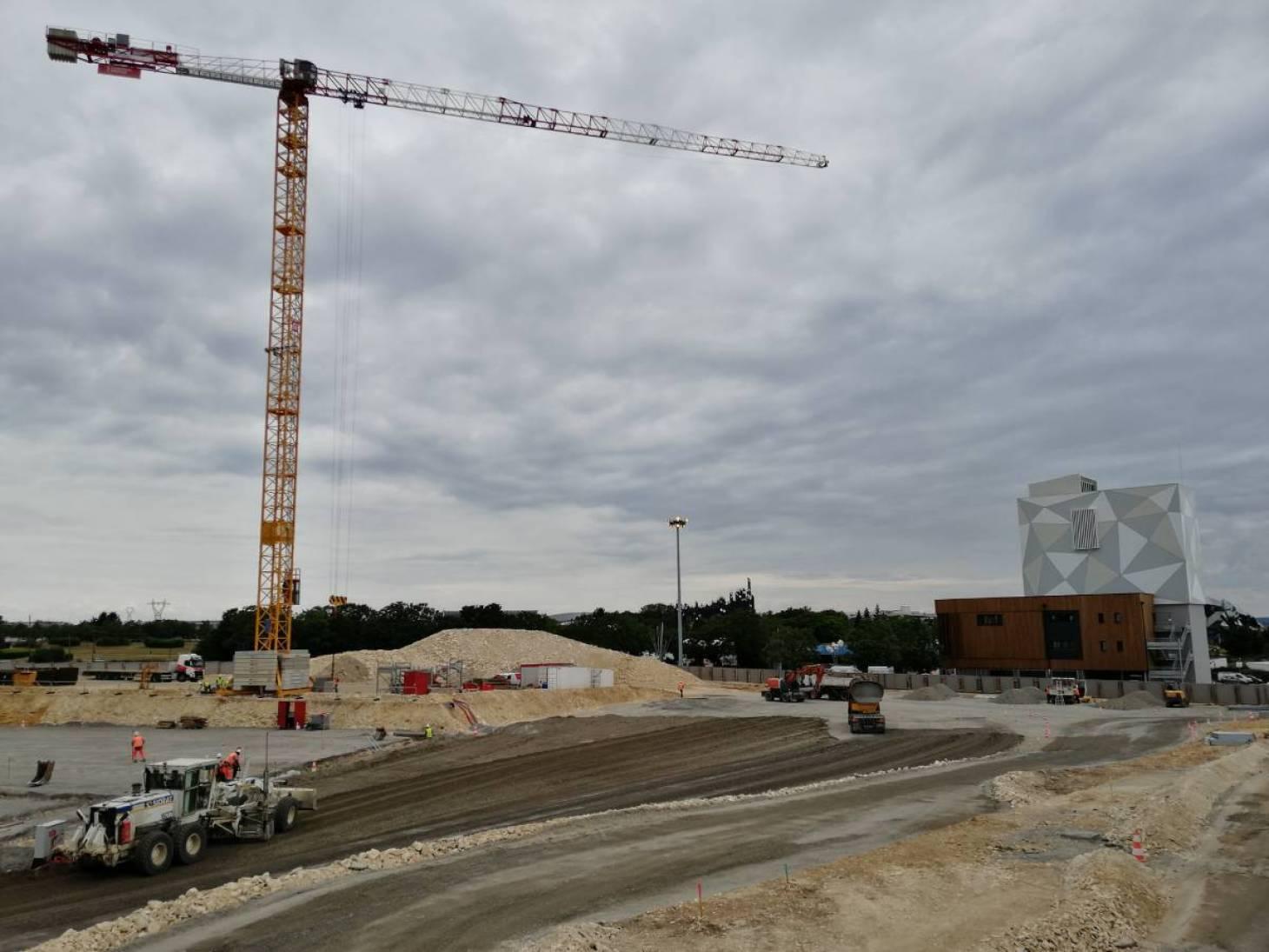 Arena : le chantier progresse mais avec trois mois de retard