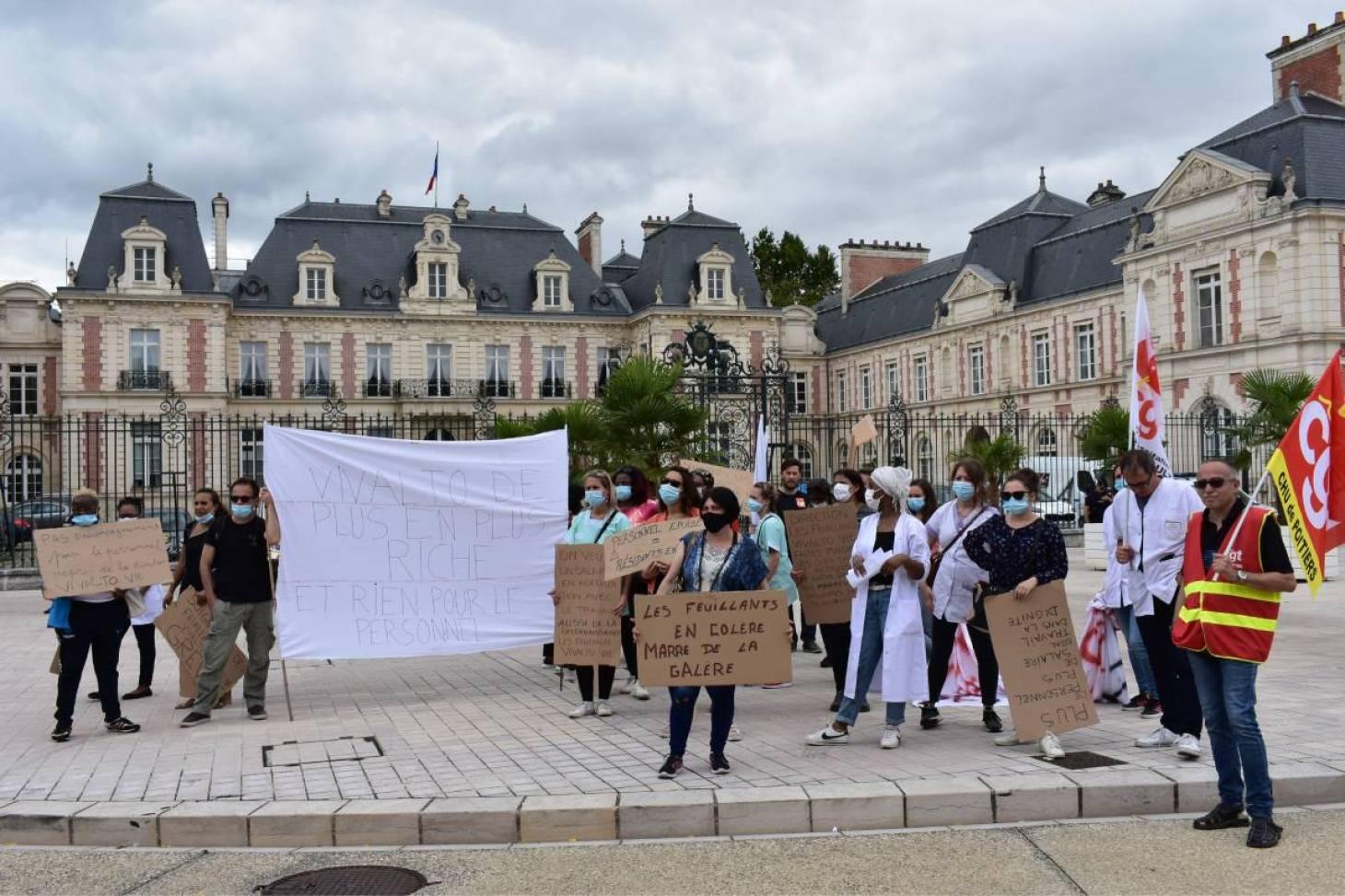 Poitiers - Le personnel de l'Ehpad des Feuillants en grève