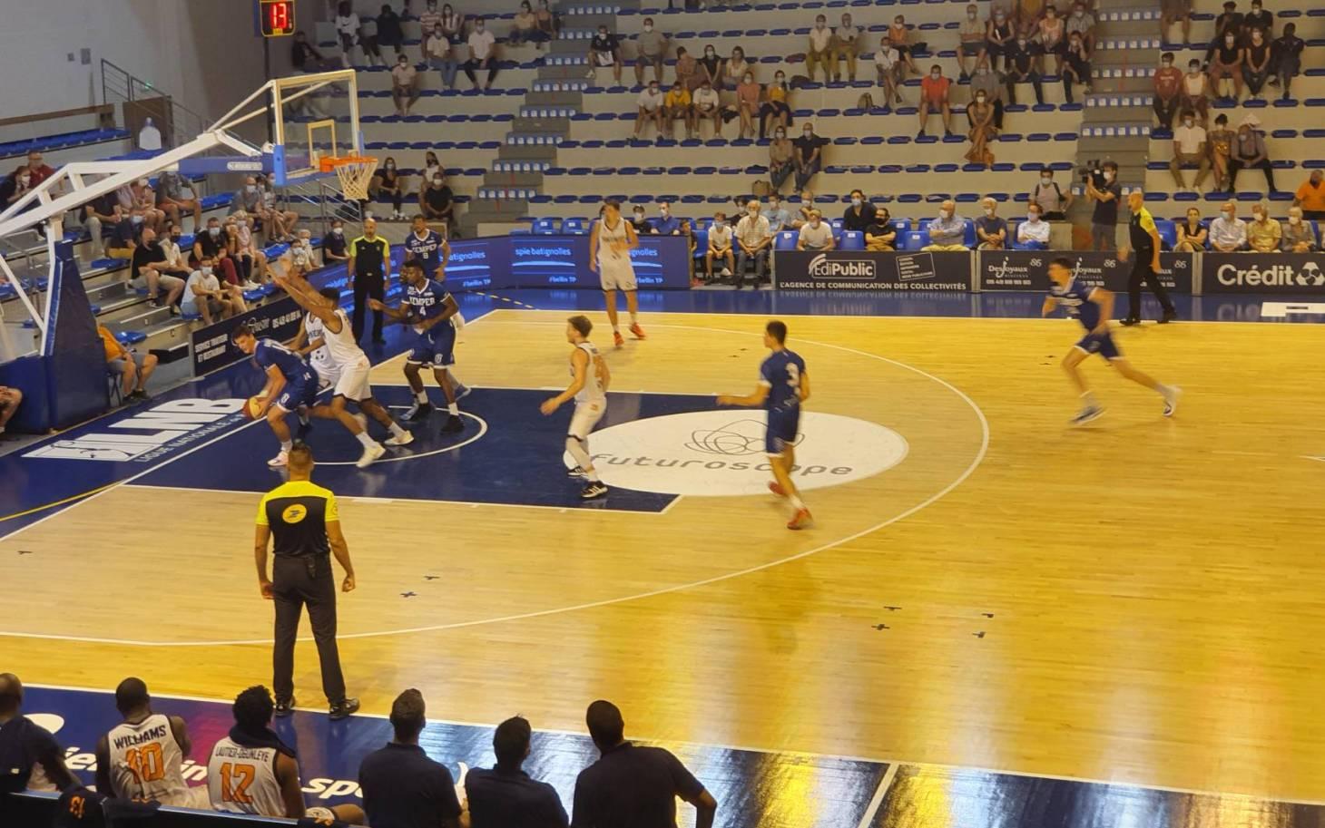 Basket/Leaders cup Pro B - Le PB86 chute d'entrée face à Quimper (68-85)