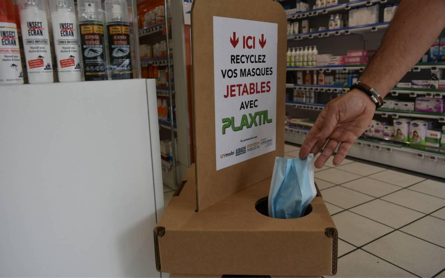 Masques usagés: bientôt des bornes de collecte à Poitiers