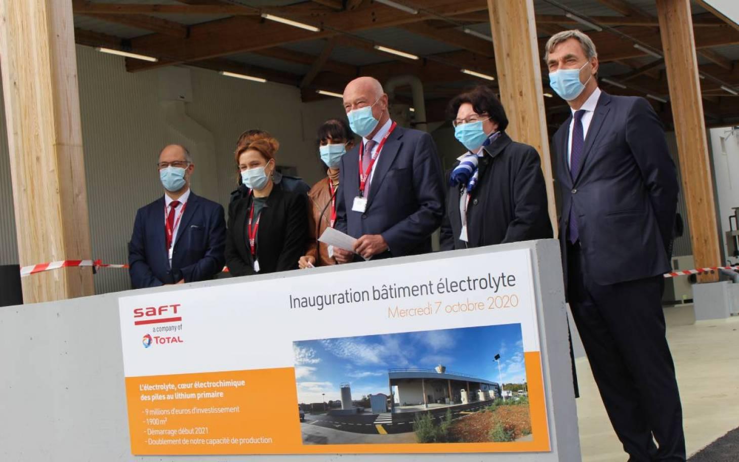 Saft double sa production d'électrolyte sur son site de Poitiers