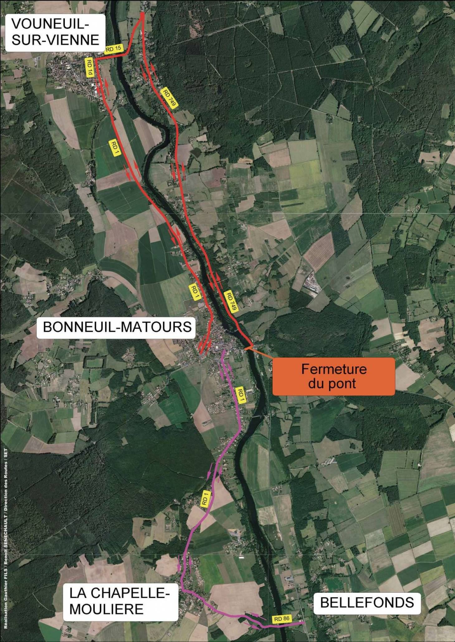 Bonneuil-Matours : fermeture du pont pendant un an