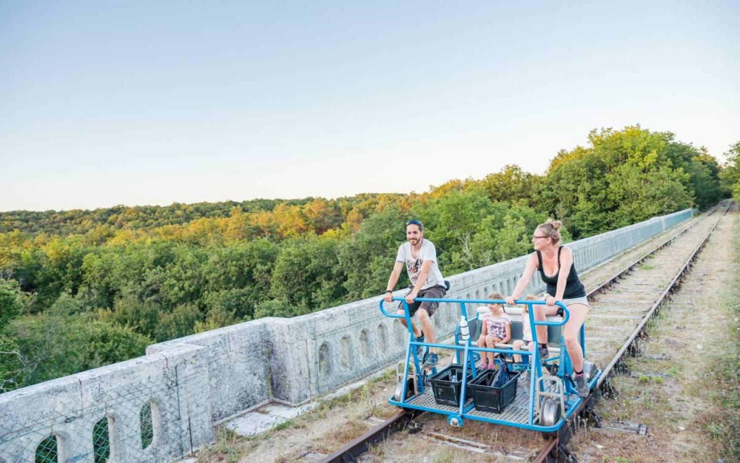 Les cyclo-draisines sur les rails