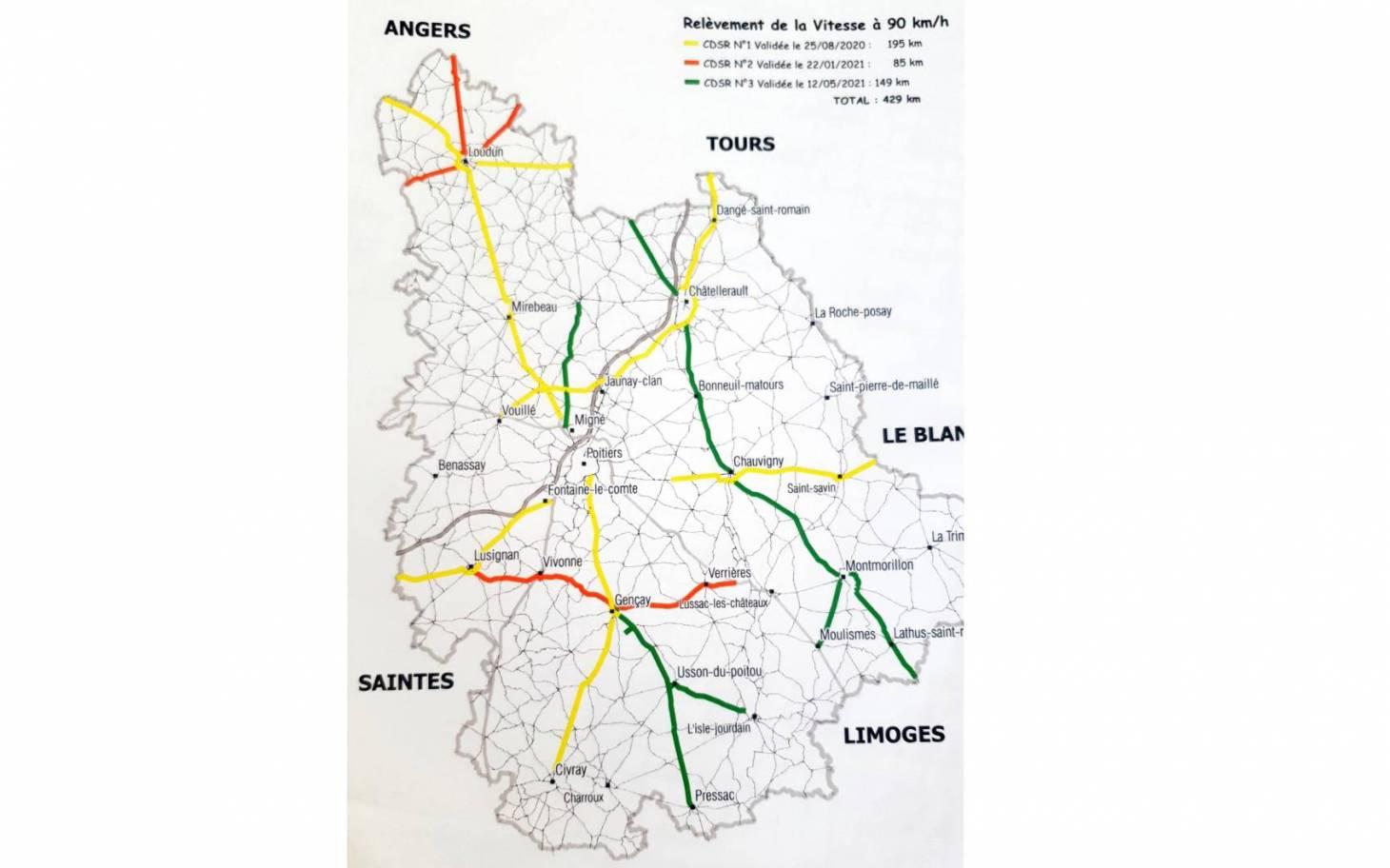 Retour à 90km/h sur 429km de routes départementales