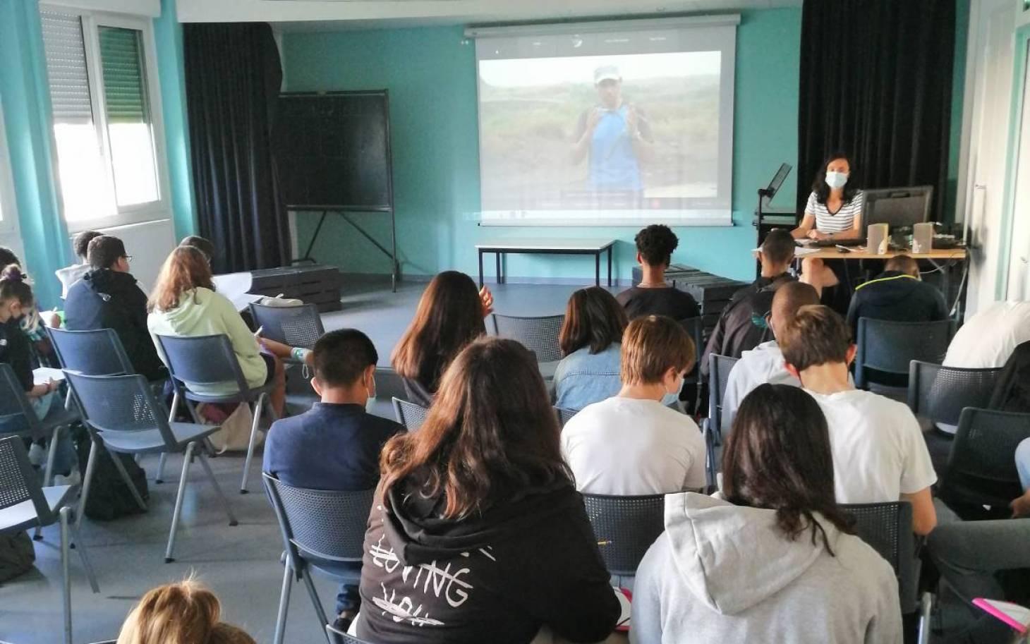 Un cours en direct... du Gabon !