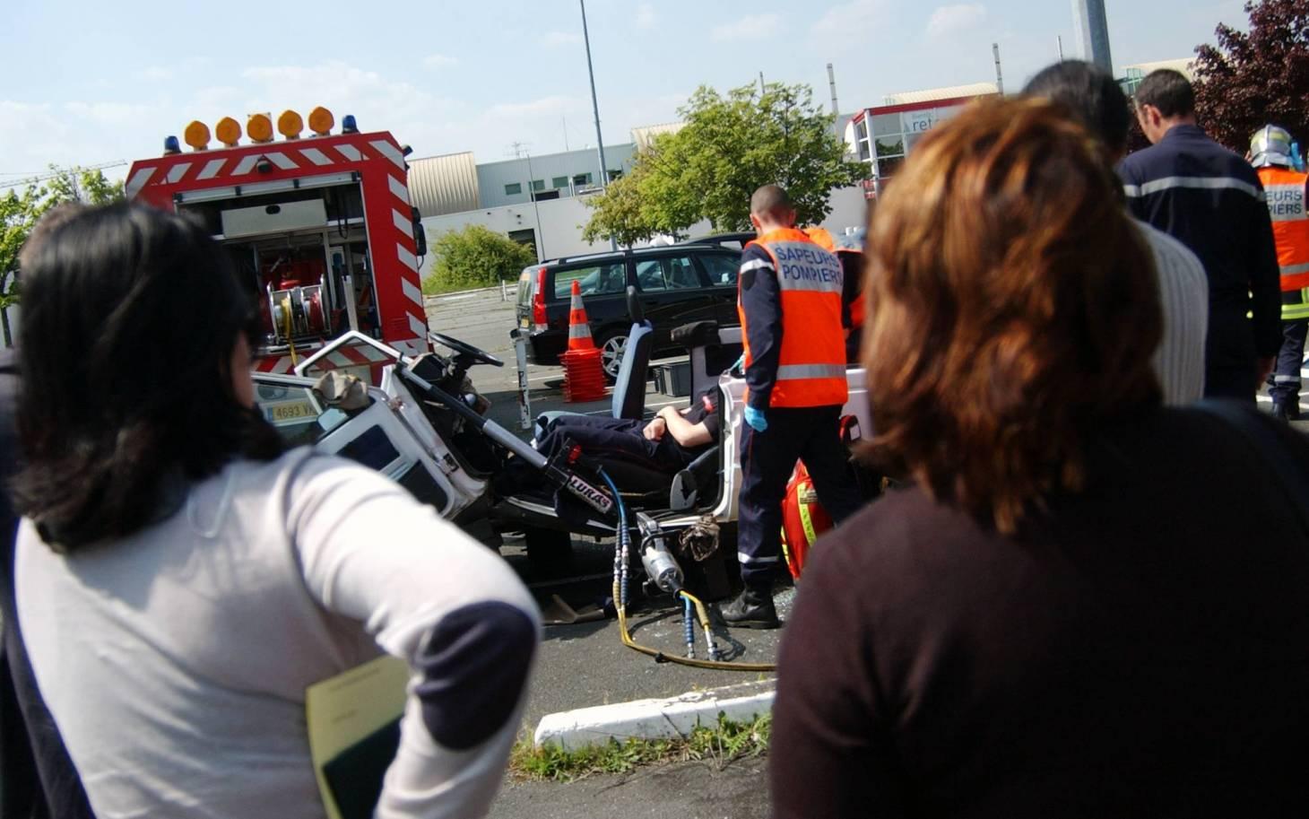 Poitiers - Les pompiers s'exercent ce vendredi au parc des expos