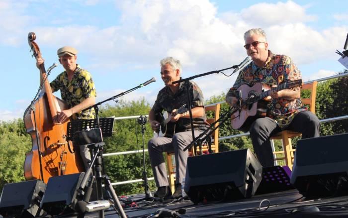 Nicolas Moro et Sanseverino en concert au parc de Blossac