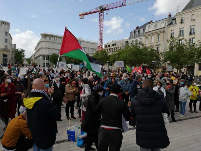Rassemblement de soutien à la Palestine à Poitiers