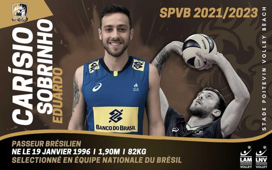 Volley - Le passeur brésilien Eduardo Carísio Sobrinho s'engage avec le SPVB