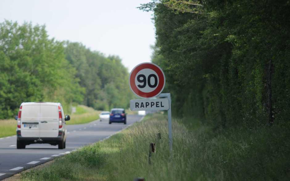 Retour à 90km/h
