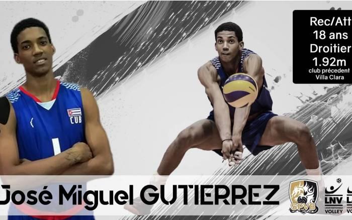 Volley - Le réceptionneur-attaquant cubain José Miguel Gutierrez signe au SPVB