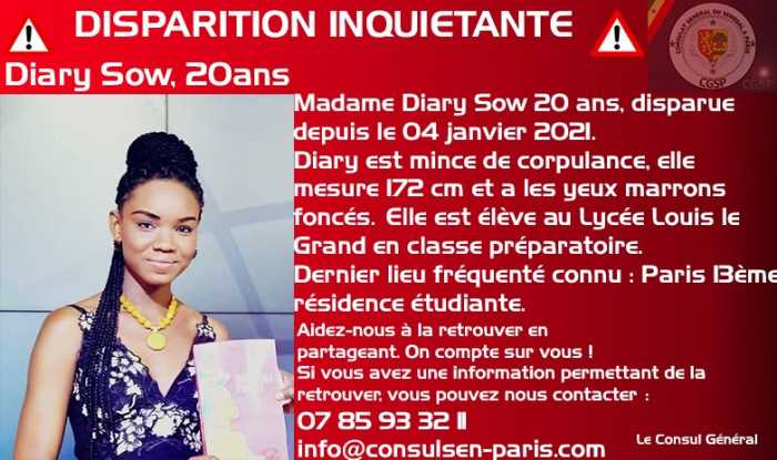 Poitiers : les étudiants sénégalais se mobilisent pour retrouver leur compatriote Diary Sow