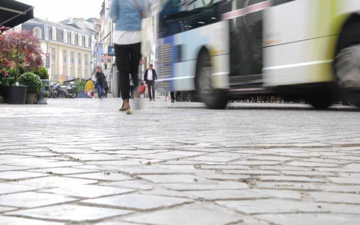 Poitiers : les pavés des rues Carnot et Magenta remplacés