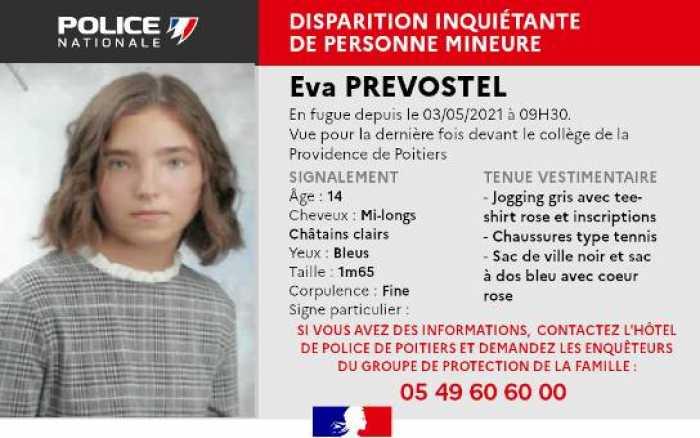 L'adolescente disparue hier retrouvée ce matin vers 7 h