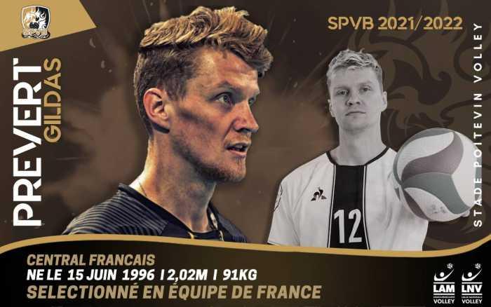 Volley - Le central français Gildas Prévert signe à Poitiers
