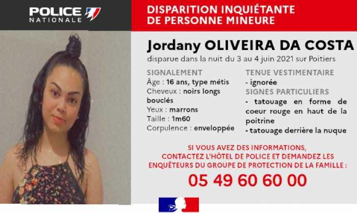 Disparition inquiétante d'une adolescente à Poitiers