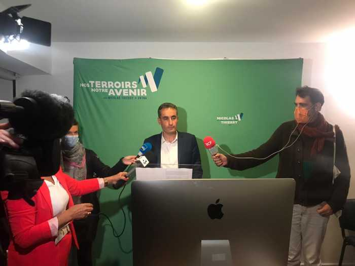 """Régionales/Second tour - Nicolas Thierry : """"L'écologie progresse, elle gagne en pourcentage, en voix et en importance"""""""