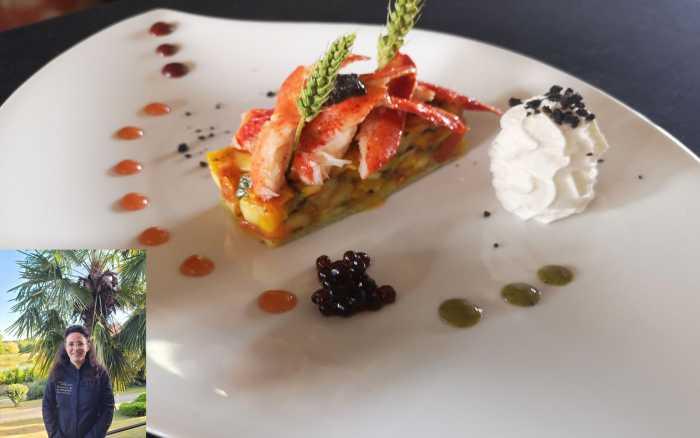 Tartare de légumes du soleil et son médaillon de homard